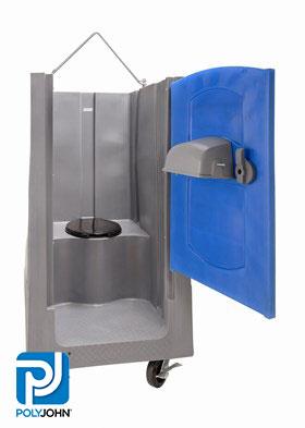 Open Top Construction Portable Toilet Rentals - Interior View