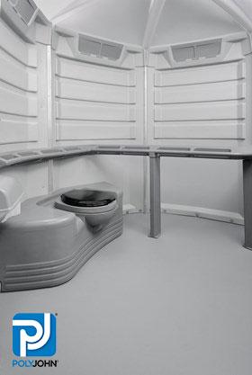 Wheelchair Accessible ADA Compliant Portable Toilet Rentals Interior View